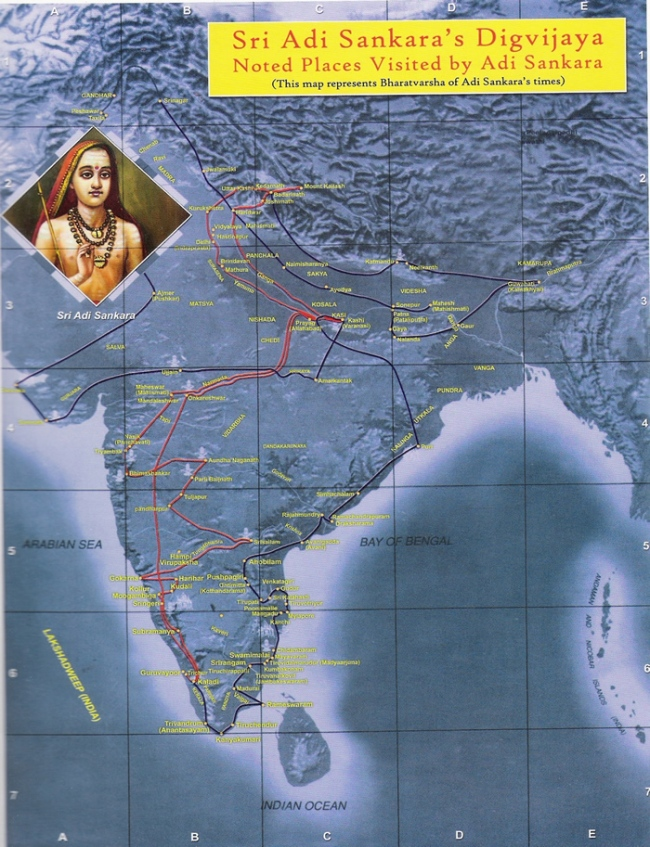 Ad Sankara's Travel Map