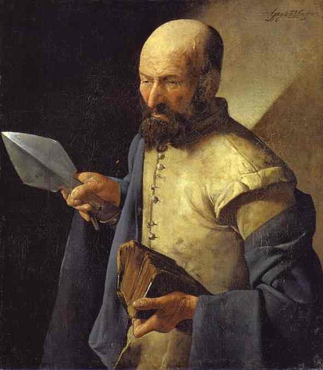 St Thomas by Georges de La Tour ca. 1632