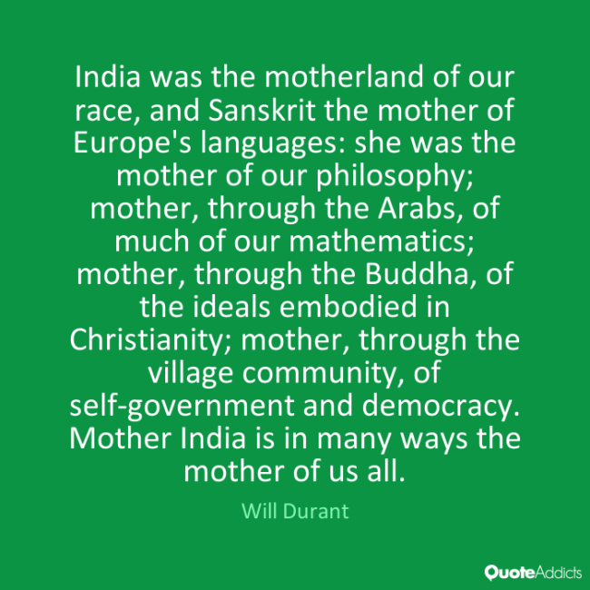Video The Story Of India Will Durant Voice Of India