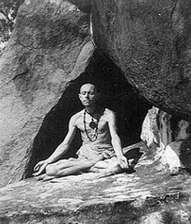 Henri La Saux at Tiruvannamalai