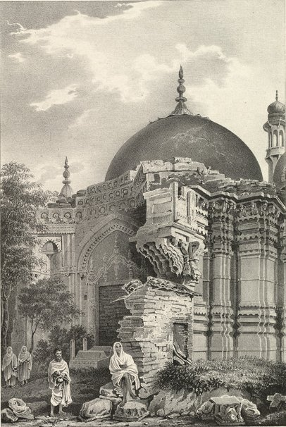 Kashi Vishwanath Temple Ruins by James Prinsep (1834)